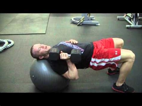 stability ball bench press 1 arm bench press on the fitball