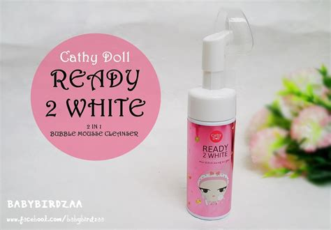 Ready 2 White 2 In 1 Mousse Cleanser Cathy Doll bloggang babybirdzaa review cathy doll ready 2