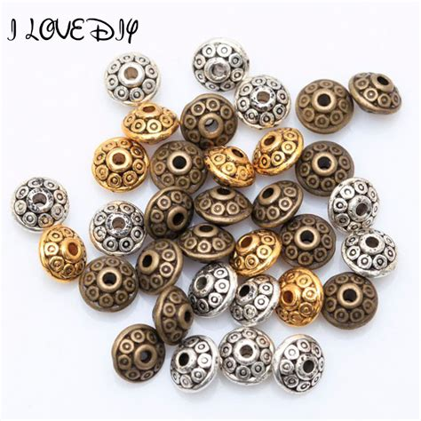 where to buy gold to make jewelry wholesale factory price 100pcs antique metal silver spacer