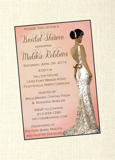 printable african american bridal shower invitations african american wedding african american bridal shower