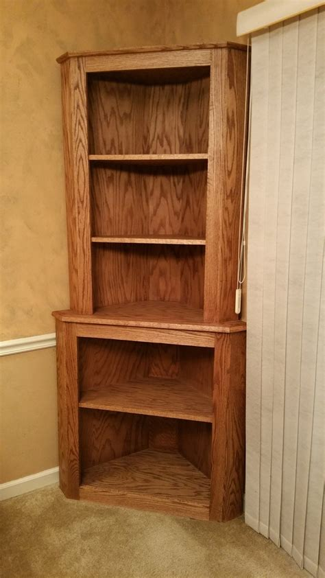 Corner Oak Bookcase 15 Best Collection Of Corner Oak Bookcase