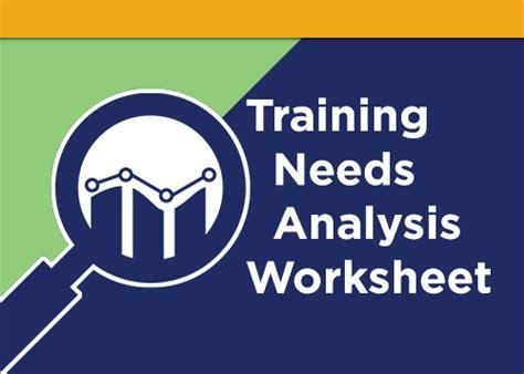 training  analysis worksheet