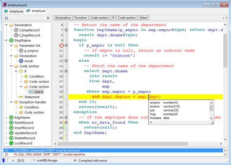 design editor oracle allround automations pl sql developer oracle development