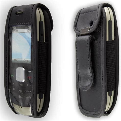 Nokia 1800 Casing Handphone nokia 1800 leather with belt clip black ebay