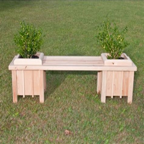 planter seat bench long cypress planter bench seat dfohome