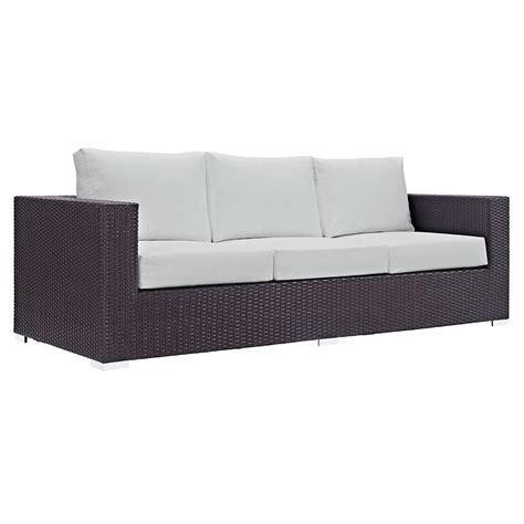 white outdoor sofa cabo modern outdoor white espresso sofa eurway