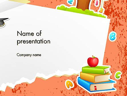 School Theme Background Powerpoint Template Backgrounds 14424 Poweredtemplate Com Free Powerpoint Templates School