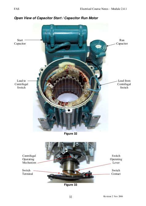 capacitor start motor centrifugal switch induction motors