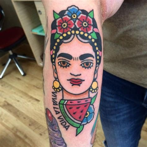 pinterest tattoo frida kahlo traditional frida kahlo inspired tattoo on the forearm