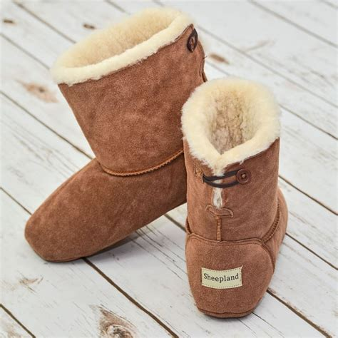 slipper boots sheepskin slipper boots