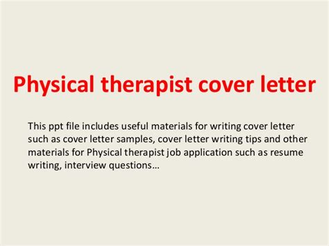 Creative Therapist Cover Letter by Physical Therapist Cover Letter