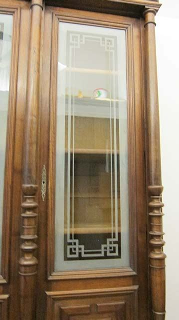 antique french henri ii library cabinet with glass doors