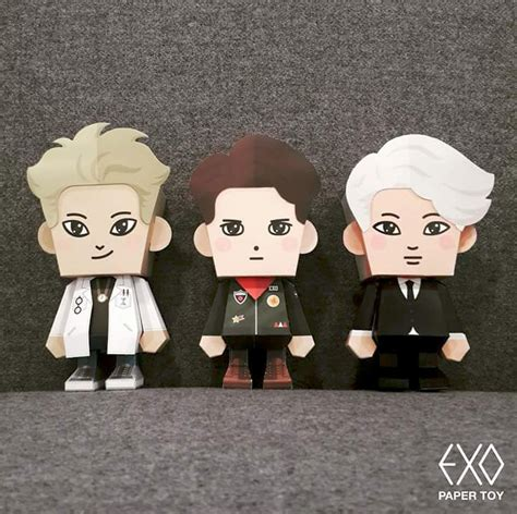 Do Exo Papertoy Exo Paper S M Entertainment 4bd Studio On Behance