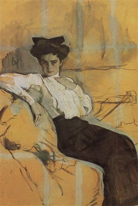 valentin serov portrait of henrietta girshman 1906 valentin serov