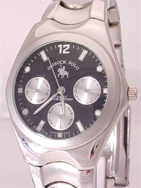 other watches new mens silver tone black chrono polo