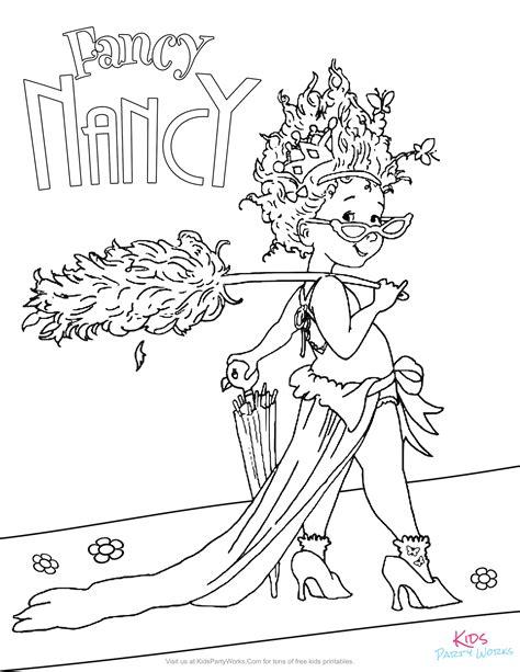 fancy nancy coloring pages fancy nancy