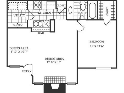 700 square feet apartment floor plan 700 square foot house plans google search house