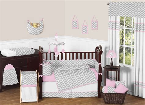 pink and gray chevron crib bedding zig zag pink and gray chevron crib bedding collection