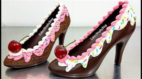 chocolate high heel shoe how to make a chocolate high heel shoe tempered choc