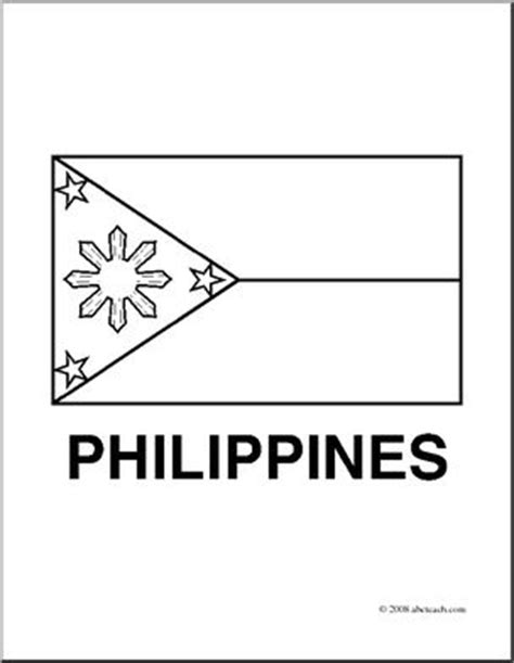 Clip Art Flags Philippines Coloring Page I Abcteach Philippines Flag Coloring Page