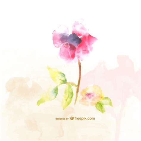 free vector watercolor flowers watercolor flower vector free download
