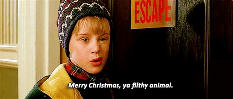 merry christmas ya filthy animal gif   century fox home entertainment find share  giphy