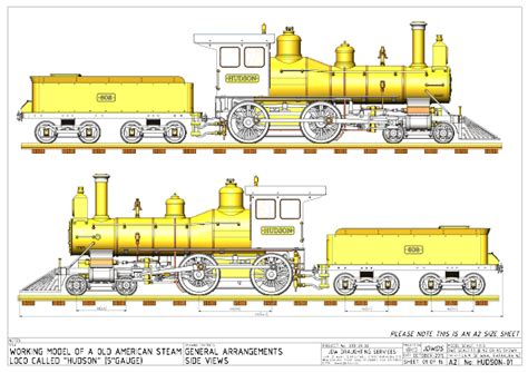 0 Locomotive Drawings by Hudson Loco Drawings