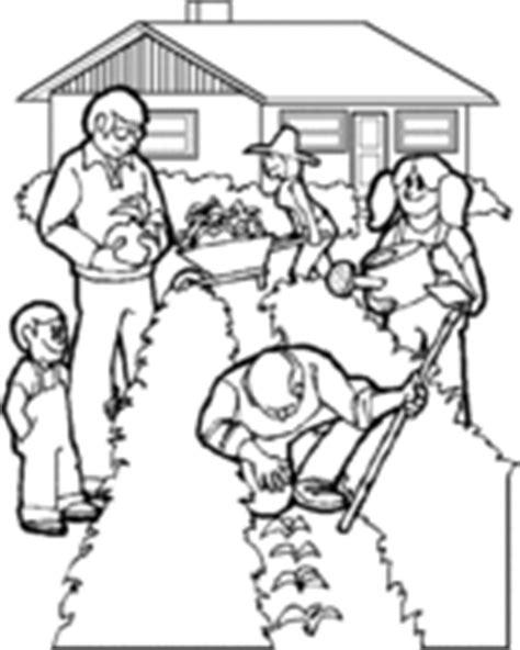 imagenes de huertas escolares para colorear huerto dibujo