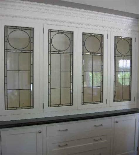 Kitchen Cabinet Door Glass Inserts Leaded Glass Cabinet Inserts For The Home