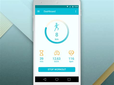 fitness tracker app for android fitness tracker material design by lina lysenko dribbble