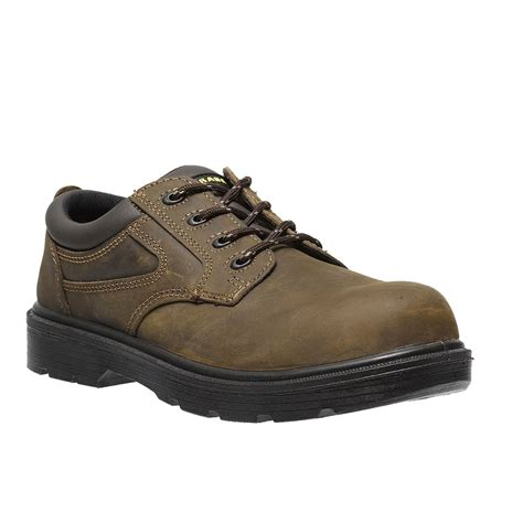 parade safety footwear metal free brown leather mens
