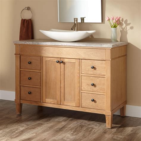 vanity bathroom sinks 48 quot marilla vessel sink vanity bathroom