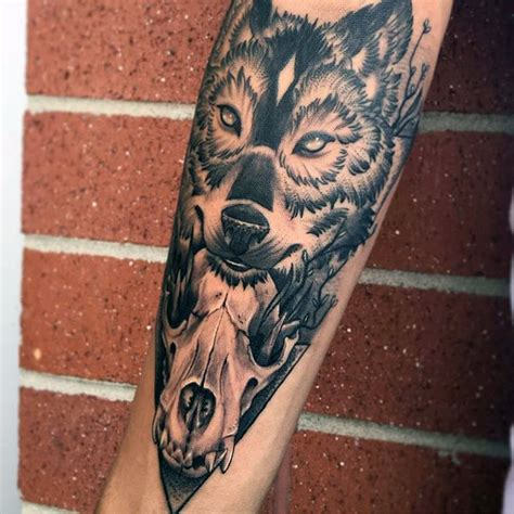 male forearm tattoo designs 70 wolf skull designs for masculine ink ideas