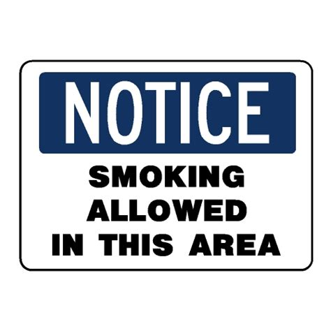 notice allowed in this area