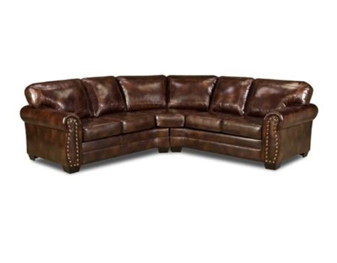 brown leather ottoman with nailheads where to buy simmons 9222dn encore brown leather sectional