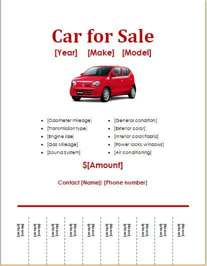 10 Ms Word Editable Printable Flyer Templates Word Document Templates Car For Sale Flyer Template Free