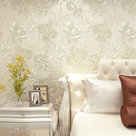 10m luxury italian silk fabrics vintage 3d floral wall paper papel de parede light color flower