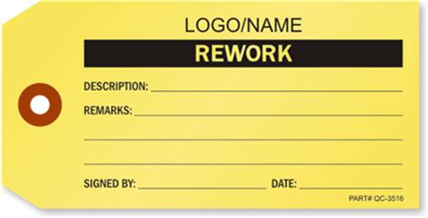 Rework Template by Rework Tags Fluorescent Repair Tags Durable Tags Best