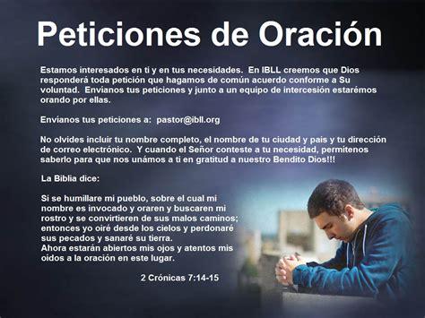 predicaciones de oracion peticiones de oraci 243 n