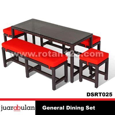Meja Makan Anyaman harga jual general dining set meja makan rotan sintetis