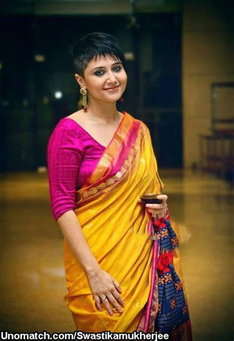 short hairstyles in saree chandana banerjee 6 ways to carry off a super short