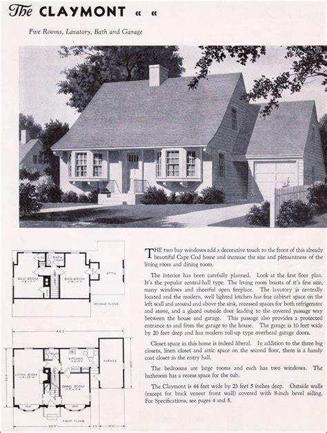 1935 Gordon Van Tine Homes The Claymont 1930s Colonial Gordon Tine House Plans