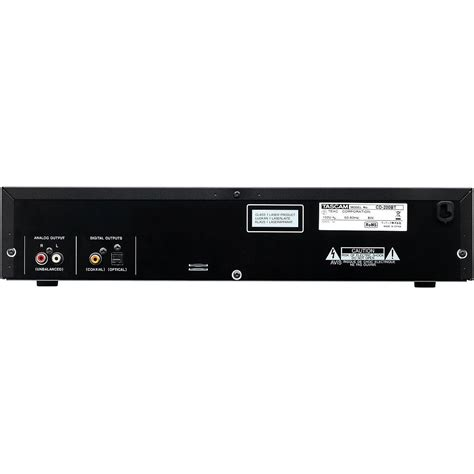 Rack Mount Player by Tascam Cd 200bt Rack Mount Cd Player With Bluetooth At