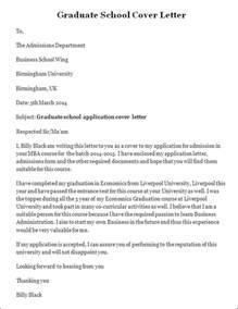 Sample Graduate School Cover Letter, Graduate School Cover