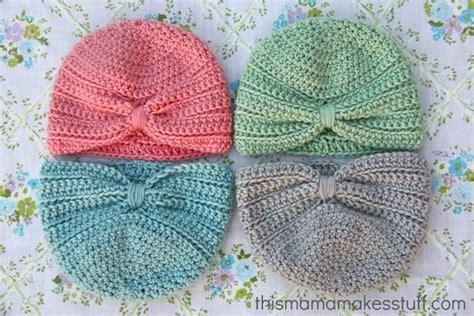 tutorial turban baby crochet baby turban pattern my crafty corner