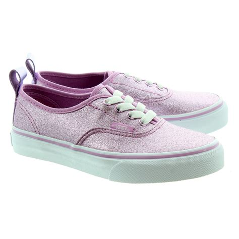 pink glitter shoes vans authentic glitter lace shoes in pink glitter in