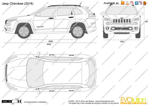 Jeep Grand Size The Blueprints Vector Drawing Jeep