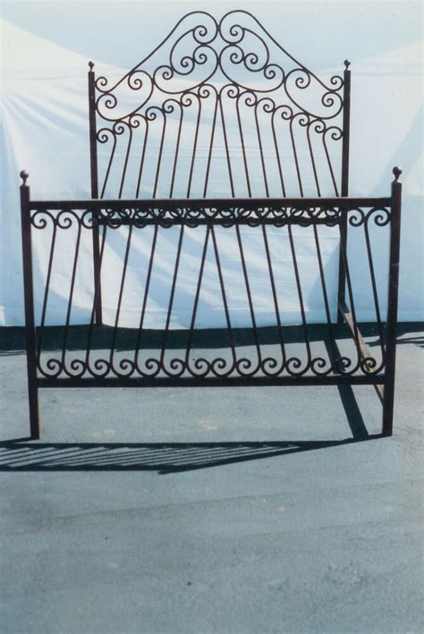Wrought Iron Bed Frame by New Wrought Iron Custom Forged Scrolled Bed Frame Ebay