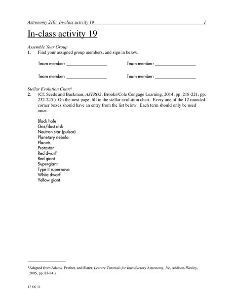 Evolution Worksheets by Astronomy Evolution Worksheet Pics About Space