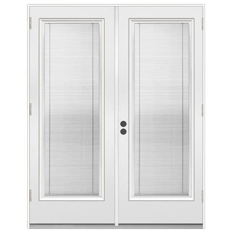 Exterior Patio Doors Lowes by Shop Reliabilt 71 5 In Dual Pane Blinds Between The Glass